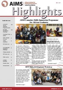 AIMS Launches Skills Immersion Programme for ...