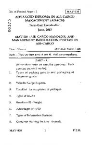 Air-Cargo Handling and Management Information Systems in Air ...