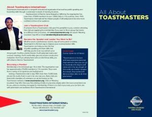 All About TOASTMASTERS -