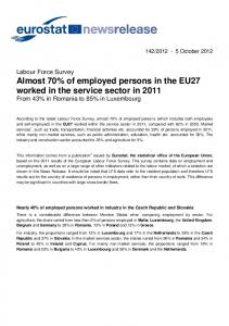 Almost 70% of employed persons in the EU27 ...