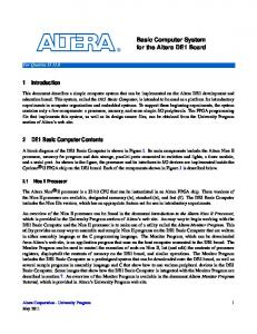 Altera University Program Basic Computer Manual - FTP Directory ...