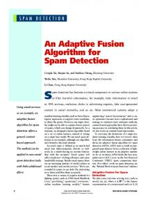 An Adaptive Fusion Algorithm for Spam Detection