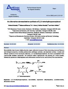 An alternative stereoselective synthesis of - Arkivoc