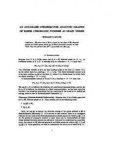 an anti-basis theorem for analytic graphs of borel chromatic number at ...