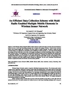 An Efficient Data Collection Scheme with Multi Radio Enabled Multiple ...
