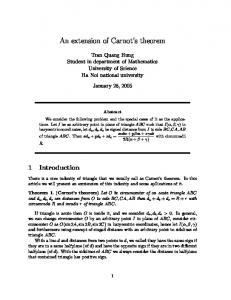An extension of Carnot's theorem