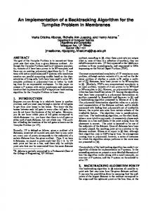 An Implementation of a Backtracking Algorithm for the ...