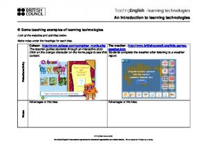 An introduction to learning technologies -