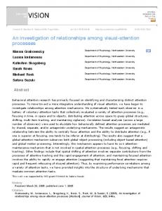 An investigation of relationships among visual-attention ...