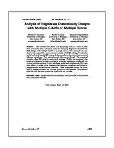 Analysis of Regression Discontinuity Designs with ...