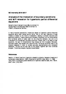 Analysis of the interaction of boundary conditions and stiff relaxation ...