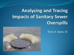 Analyzing and Tracing Impacts of Sanitary Sewer ...