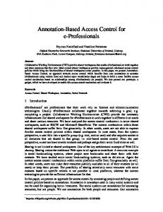 Annotation-Based Access Control for e-Professionals