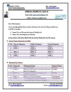 ANNUAL FILING FY 2014-15 Series- 116 -