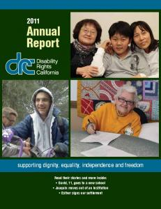 Annual Report - Disability Rights California