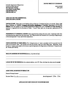 Application for Commercial Pesticide Applicator's License.pdf ...