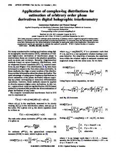 Application of complex-lag distributions for estimation of ...