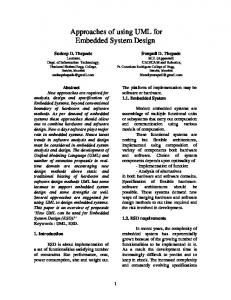 Approaches of using UML for Embedded System ... - Semantic Scholar