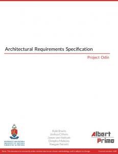 Architectural Requirements Specification - GitHub