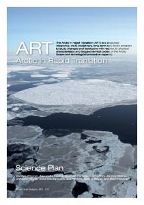 Arctic in Rapid Transition Science Plan - AquaBiota