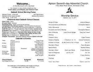 Area Announcements WELLkids at Southern - Apison Seventh-day ...