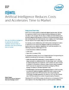 Artificial Intelligence Reduces Costs and Accelerates Time to Market ...