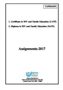 Assignments-2017 - IGNOU