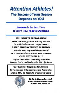 Attention Athletes!