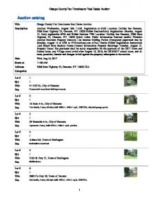 Auction catalog - NYSAuctions