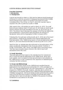 AUDITOR-GENERAL-REPORT-EXECUTIVE SUMMARY-EXCERPT ...