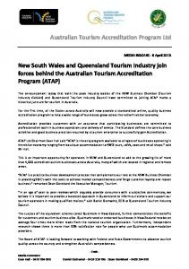 Australian Tourism Accreditation Program Ltd New South ... - SATIC