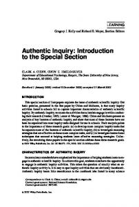 Authentic inquiry - Wiley Online Library