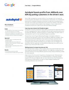 Autobytel boosts profits from AdWords over 60% by ...  Services