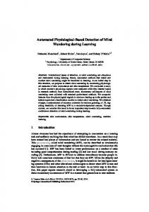 Automated Physiological-Based Detection of Mind ...