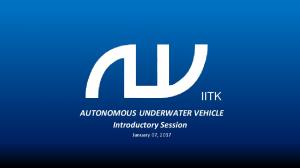 AUTONOMOUS UNDERWATER VEHICLE Introductory Session - GitHub