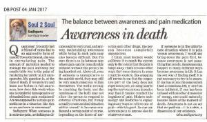 Awareness in death