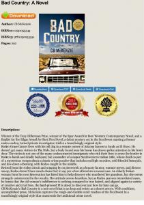 Bad Country: A Novel - CB McKenzie - Book