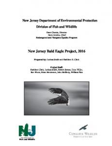 Bald Eagle Annual Report 2016 - Division of Fish and Wildlife