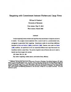 Bargaining with Commitment between Workers and ...