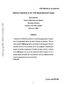 Bartnik, Einstein Equations in the Null Quasi-Spherical Gauge.PDF ...