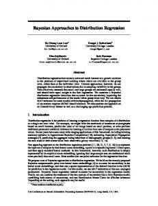 Bayesian Approaches to Distribution Regression