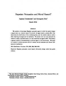 Bayesian Persuasion and Moral Hazard