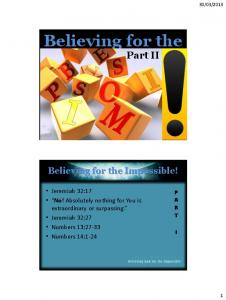 Believing for the - Amazon AWS