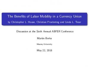 Benefits of Labor Mobility in a Currency Union
