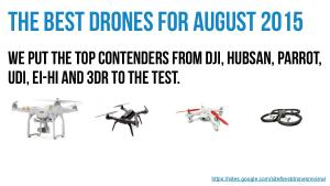 Best Drones For August 2015