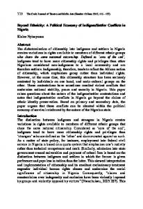 Beyond Ethnicity_A Political Economy of Indigene_Settler Conflicts ...