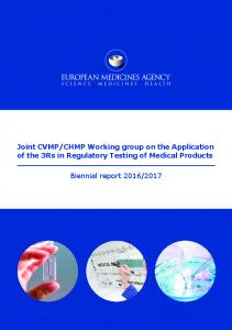 Biennial report of the joint CVMP/CHMP working group on the ...