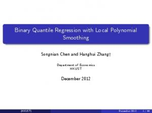 Binary Quantile Regression with Local Polynomial ...