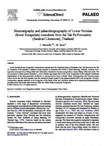 Biostratigraphy and palaeobiogeography of Lower Permian - UNE