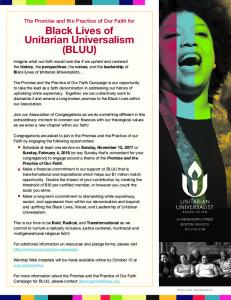 Black Lives of Unitarian Universalism (BLUU)